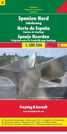 Španělsko sever 1:400 000: Svatojakubská cesta -
