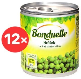 BONDUELLE Hrášek jemný 12 × 212 ml - Konzervovaná zelenina