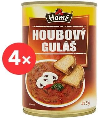 HAMÉ Houbový guláš 4 × 415 g - Hotové jídlo