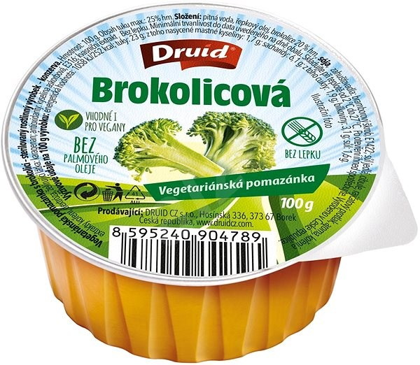 DRUID Vegetariánská brokolicová pomazánka 100 g - Konzerva
