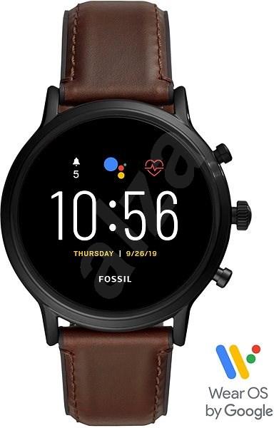 Fossil Gen5 Carlyle HR - Hnědá kůže - Chytré hodinky