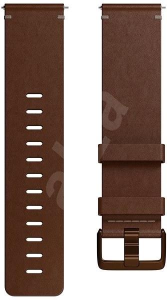 Fitbit Versa Accessory Band, Leather, Cognac, Large - Řemínek