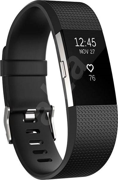Fitbit Charge 2 Small Black Silver - Fitness náramek