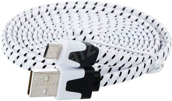 PremiumCord USB 2.0 propojovací A-B micro 1.8m černo-bílý - Datový kabel