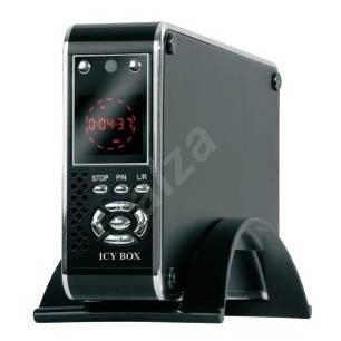 """Externí box IcyBox - IB-MP301-B, mediaplayer pro 3.5"""" zařízení, USB2.0, hliníkový, napájecí zdroj 23 - Externí box"""