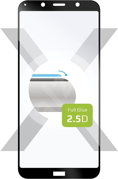 FIXED FullGlue-Cover pro Xiaomi Redmi 7A lepení přes celý displej černé - Ochranné sklo