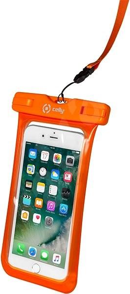 """CELLY Splash Bag pro telefony 6.2"""" oranžové - Pouzdro na mobil"""