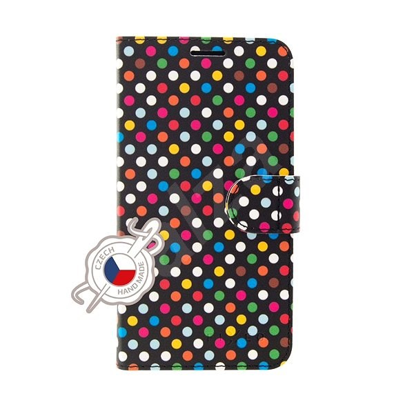 FIXED FIT pro Huawei P30 Lite motiv Rainbow Dots - Pouzdro na mobilní telefon
