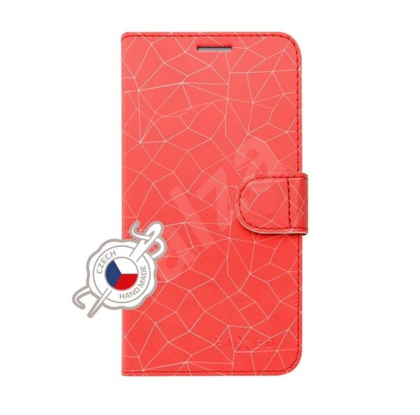 FIXED FIT pro Huawei P30 Lite motiv Red Mesh - Pouzdro na mobilní telefon