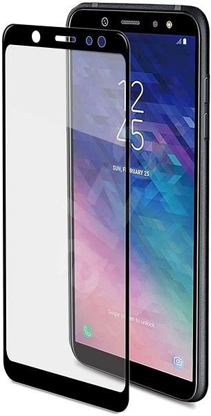 CELLY Full Glass pro Samsung Galaxy A6+ (2018) černé - Ochranné sklo