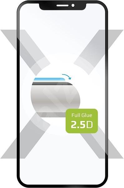 FIXED FullGlue-Cover pro Samsung Galaxy A6+ černé - Ochranné sklo