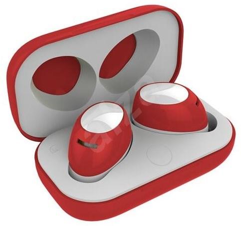 CELLY Twins Air červená - Bezdrátová sluchátka