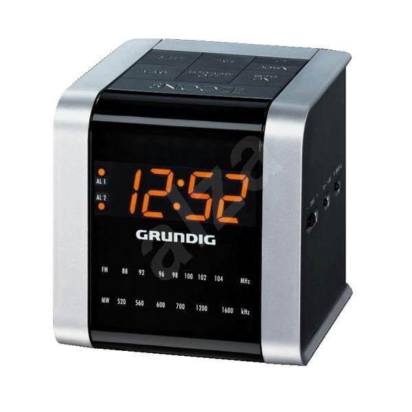 GRUNDIG SonoClock 560 stříbrno-černý - Radiobudík