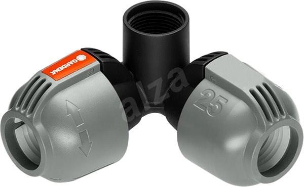 """Gardena L-kus 25 mm x vnitřní závit 3/4"""", rohová přípojka zadešťovače - Připojení zadešťovače"""