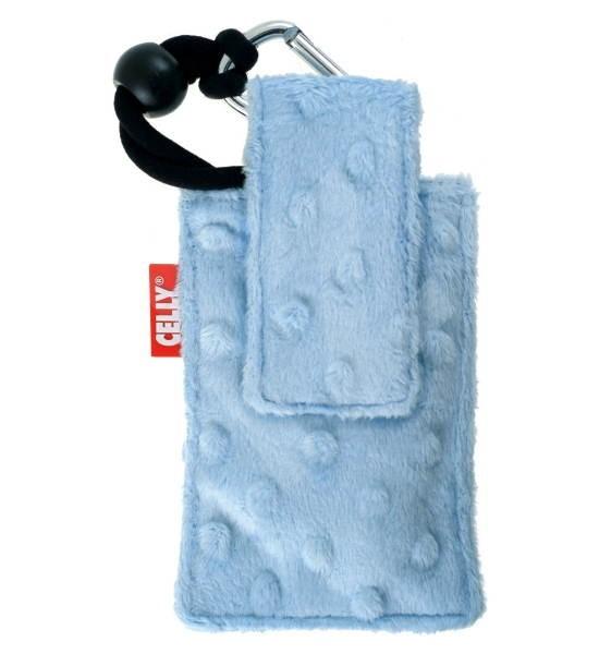 CELLY PUKKA12 - plyšové pouzdro na foto nebo mobilní telefon, modré (blue) - Pouzdro na mobilní telefon