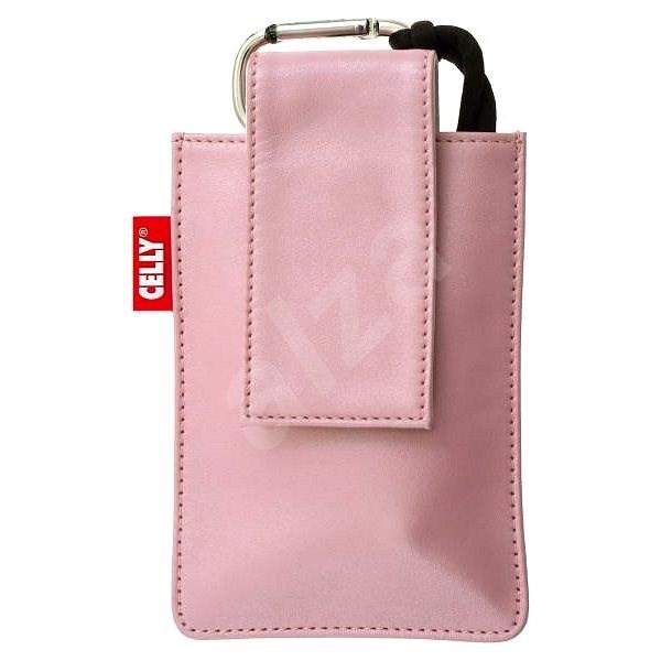CELLY PUKKA54 - kožené pouzdro na foto nebo mobilní telefon, růžové (pink), kůže - Pouzdro na mobilní telefon