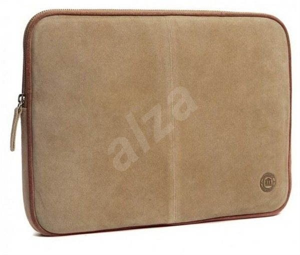 """d.bramante1928 Leather Case do 10"""", Beige Suede & Brown piping, béžové - Pouzdro na notebook"""