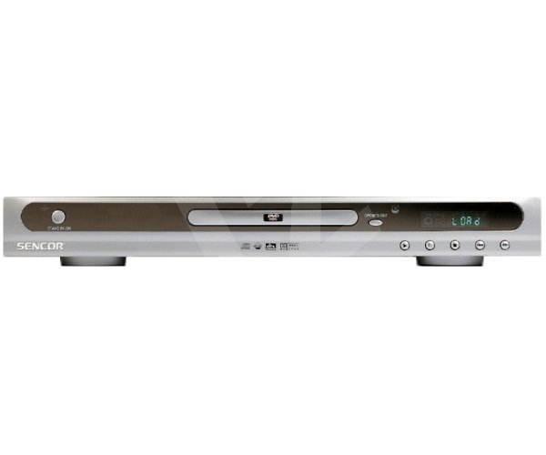 Sencor SDV 6101 stolní DVD, DivX, XviD, SVCD, MP3, CD, JPEG přehrávač - stříbrný (silver) -