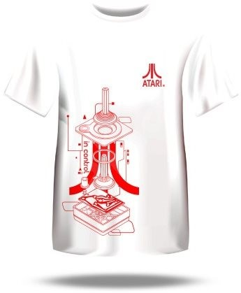 Atari T-Shirt – Iconic Joystick Blueprint XL - Tričko