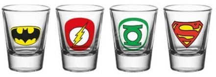 DC Comics - štamprle (4x) - Sklenice na studené nápoje