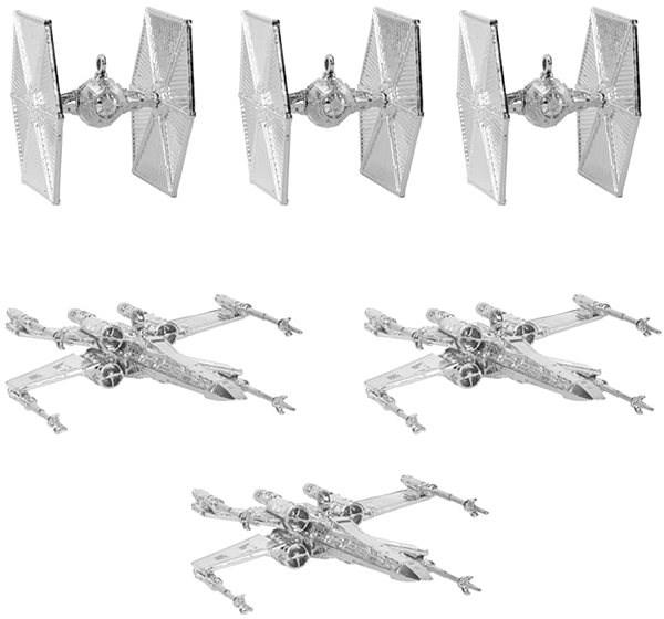 Star Wars - ozdoby stříbrné (6x) - Vánoční ozdoby