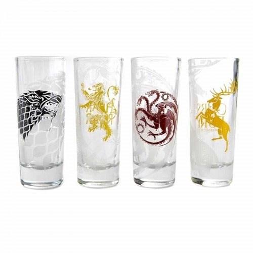 Game Of Thrones Sigil - štamprle (4x) - Sklenice na studené nápoje