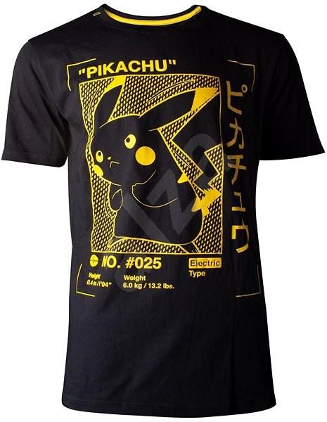 Pokémon Pikachu Profile - tričko XXL - Tričko