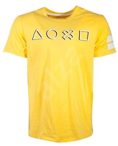 Playstation Logo žluté - tričko XL - Tričko