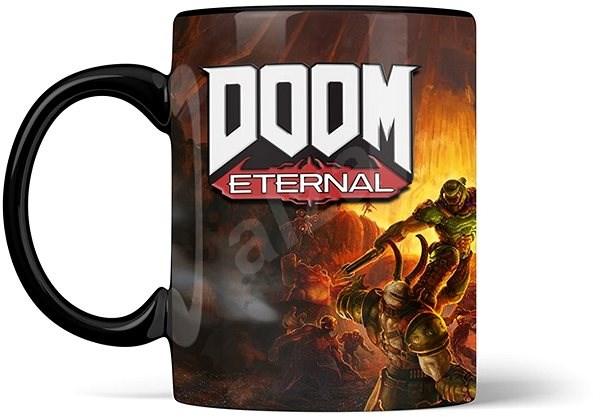 Doom Metal Badge Heat Mug - hrnek - Hrnek