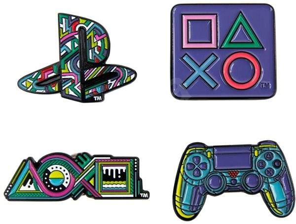 PlayStation Pin Badge Set - odznaky - Přívěsek
