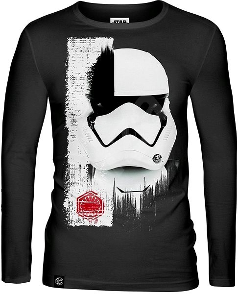 Star Wars: Trooper Mask - tričko s dlouhým rukávem S - Tričko