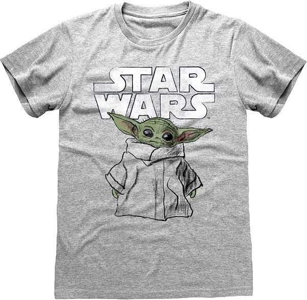 Star Wars Mandalorian - The Child Sketch - tričko XXL - Tričko