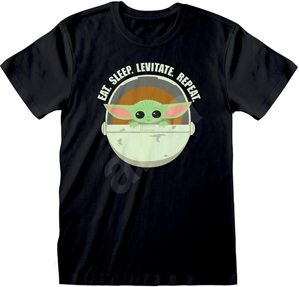 Star Wars Mandalorian - Eat Sleep Levitate - tričko S - Tričko