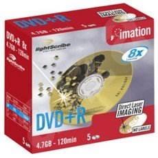 DVD+R médium IMATION LightScribe 4.7GB, 8x speed, balení 5 kusů v krabičce -