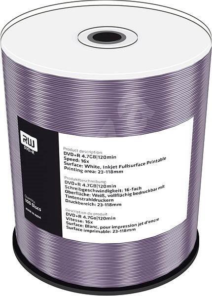 Mediarange DVD+R 4.7 GB 16x spindl 100 ks Inkjet Printable - Média