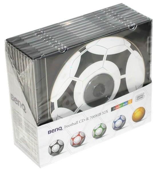 CD-R médium BenQ Football DataGuard 52x slim krabička 10ks -