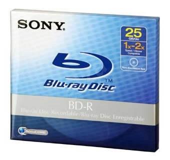 Sony BD-R 25GB 1ks v krabičce - Média