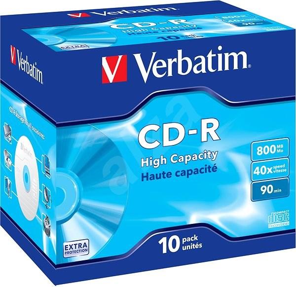 VERBATIM CD-R 800MB, 40x, jewel case 10 ks - Média
