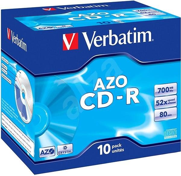 VERBATIM CD-R AZO 700MB, 52x, jewel case 10 ks - Média