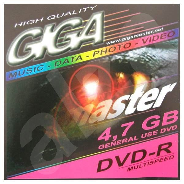 DVD-R médium GIGAMASTER 4.7GB, 2x speed, v2.0 -