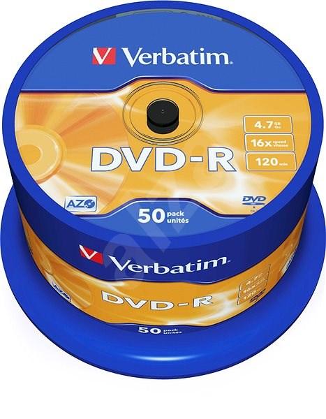 VERBATIM DVD-R AZO 4.7GB, 16x, spindle 50 ks - Média