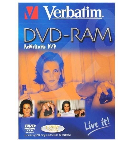 DVD-RAM médium Verbatim Blue Live It 4,7GB 2x speed, balení v DVD krabičce -