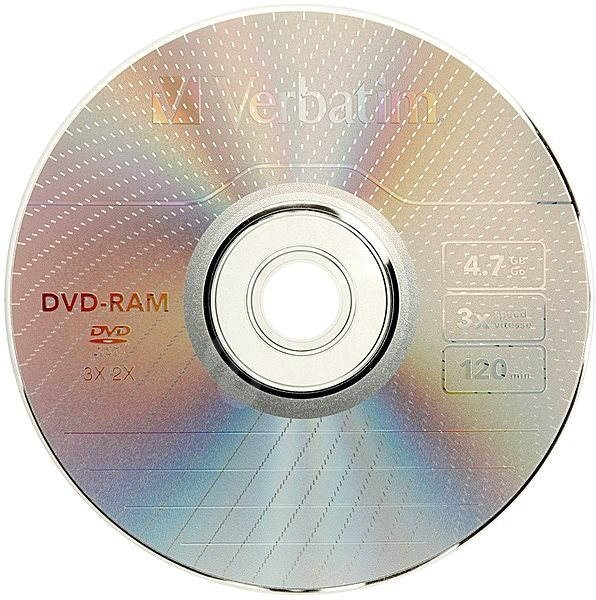 Verbatim DVD-RAM 3x, 3ks v SLIM krabičce - Média