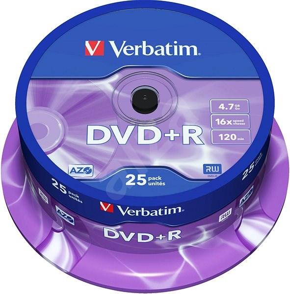 VERBATIM DVD+R AZO 4.7GB, 16x, spindle 25 ks - Média