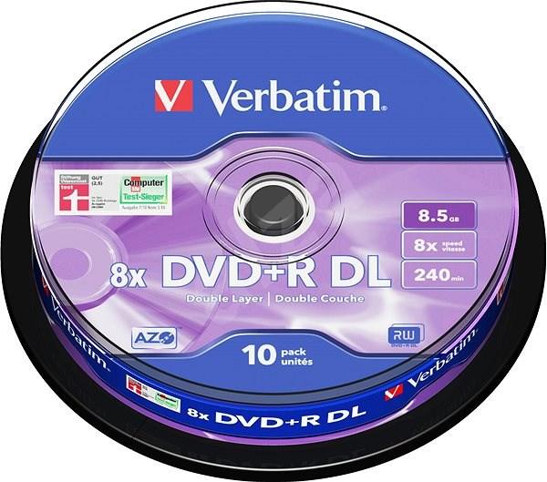 VERBATIM DVD+R DL AZO 8.5GB, 8x, spindle 10 ks - Média