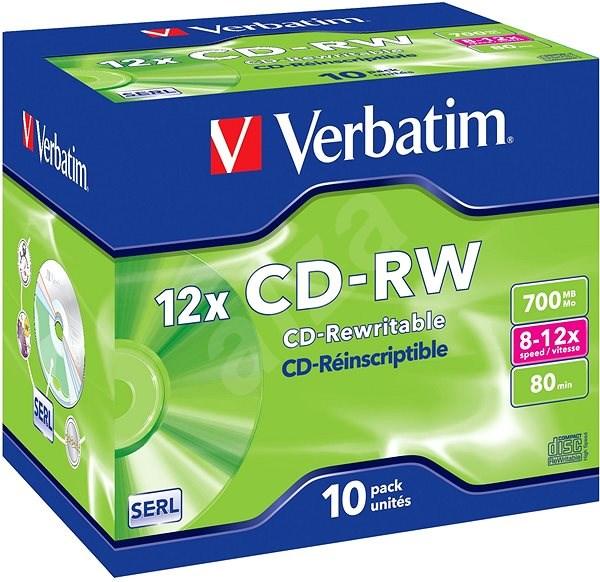 VERBATIM CD-RW SERL 700MB, 12x, jewel case 10 ks - Média