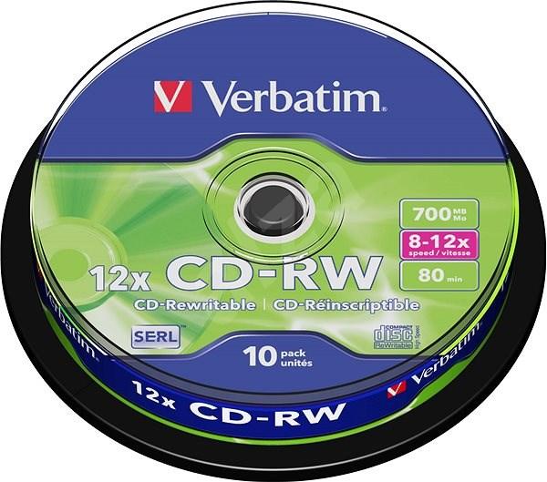 VERBATIM CD-RW SERL 700MB, 12x, spindle 10 ks - Média