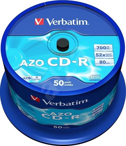 VERBATIM CD-R AZO 700MB, 52x, spindle 50 ks - Média