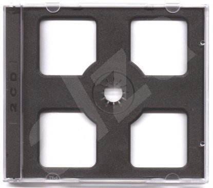 CD krabička na 2ks - černá (black), 10mm -