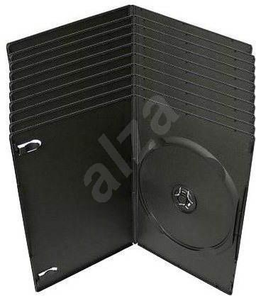 Krabička slimULTRA na 1ks - černá, 7mm, 10pack - Obal na CD/DVD